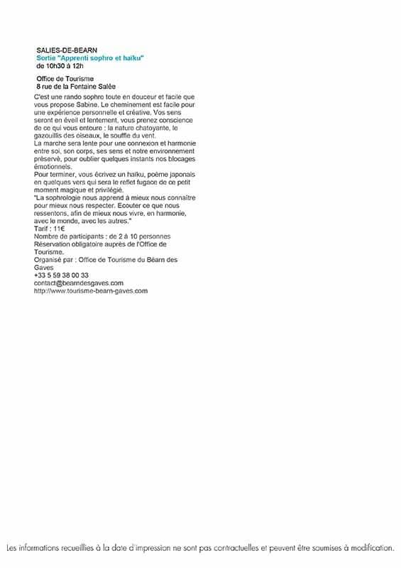 05 Salies de bearn animations-du-25.09-au-10.10 2021 Curiste en cure location appartement meuble